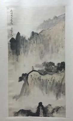 黑伯龙山水尺寸97x51约4.4平尺轴