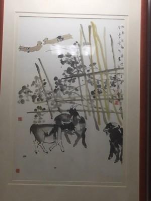 李学明三阳开泰约4.2平尺框