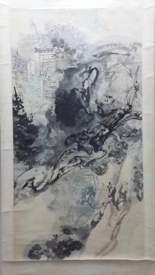 张宝珠作品约4.5平尺泰山轴