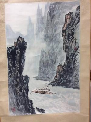 张登堂作品约2.8平尺挂轴