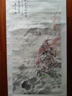 吴泽浩作品民族英雄戚继光四尺整纸轴